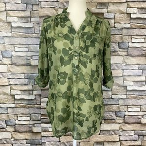 Truth Floral Chiffon Tunic High Low Hem Size S